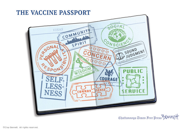 Clay Bennett  Clay Bennett's Editorial Cartoons 2021-04-11 COVID vaccine
