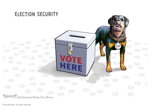 Clay Bennett  Clay Bennett's Editorial Cartoons 2021-04-28 vote