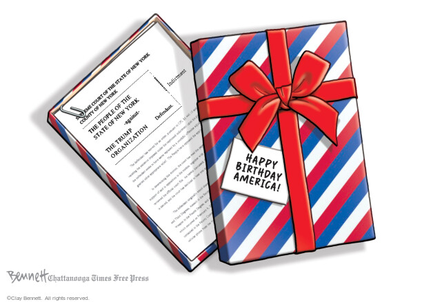 Clay Bennett  Clay Bennett's Editorial Cartoons 2021-07-04 Trump administration