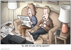 Cartoonist Clay Bennett  Clay Bennett's Editorial Cartoons 2008-01-08 against