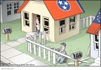 Cartoonist Clay Bennett  Clay Bennett's Editorial Cartoons 2008-02-28 Georgia