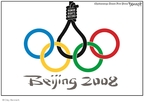 Cartoonist Clay Bennett  Clay Bennett's Editorial Cartoons 2008-03-26 athlete