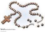 Cartoonist Clay Bennett  Clay Bennett's Editorial Cartoons 2008-04-20 broke