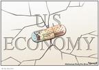 Cartoonist Clay Bennett  Clay Bennett's Editorial Cartoons 2008-04-29 stimulus