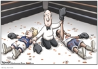 Cartoonist Clay Bennett  Clay Bennett's Editorial Cartoons 2008-06-04 2008 primary