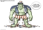 Cartoonist Clay Bennett  Clay Bennett's Editorial Cartoons 2008-06-14 angry