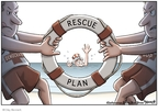 Cartoonist Clay Bennett  Clay Bennett's Editorial Cartoons 2008-09-30 rescue
