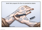 Cartoonist Clay Bennett  Clay Bennett's Editorial Cartoons 2008-10-01 Georgia governor