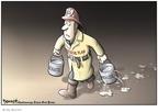 Cartoonist Clay Bennett  Clay Bennett's Editorial Cartoons 2008-10-02 economics