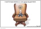Cartoonist Clay Bennett  Clay Bennett's Editorial Cartoons 2008-11-02 against