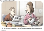 Cartoonist Clay Bennett  Clay Bennett's Editorial Cartoons 2009-01-14 medication