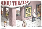 Cartoonist Clay Bennett  Clay Bennett's Editorial Cartoons 2009-02-22 scandal