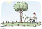 Clay Bennett  Clay Bennett's Editorial Cartoons 2009-04-22 deforestation