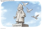 Cartoonist Clay Bennett  Clay Bennett's Editorial Cartoons 2009-05-31 bird