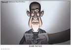 Cartoonist Clay Bennett  Clay Bennett's Editorial Cartoons 2009-08-20 fear