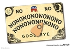 Cartoonist Clay Bennett  Clay Bennett's Editorial Cartoons 2009-08-29 against