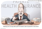 Cartoonist Clay Bennett  Clay Bennett's Editorial Cartoons 2009-09-01 deny