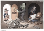 Cartoonist Clay Bennett  Clay Bennett's Editorial Cartoons 2009-10-17 fear