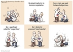Cartoonist Clay Bennett  Clay Bennett's Editorial Cartoons 2010-03-04 bipartisan