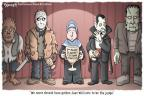 Cartoonist Clay Bennett  Clay Bennett's Editorial Cartoons 2010-10-27 fear