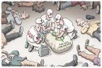 Cartoonist Clay Bennett  Clay Bennett's Editorial Cartoons 2010-12-03 money