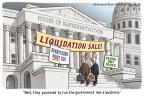 Cartoonist Clay Bennett  Clay Bennett's Editorial Cartoons 2011-04-27 Federal government