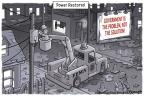 Cartoonist Clay Bennett  Clay Bennett's Editorial Cartoons 2011-08-31 Federal government