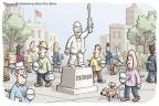 Cartoonist Clay Bennett  Clay Bennett's Editorial Cartoons 2011-10-07 statue