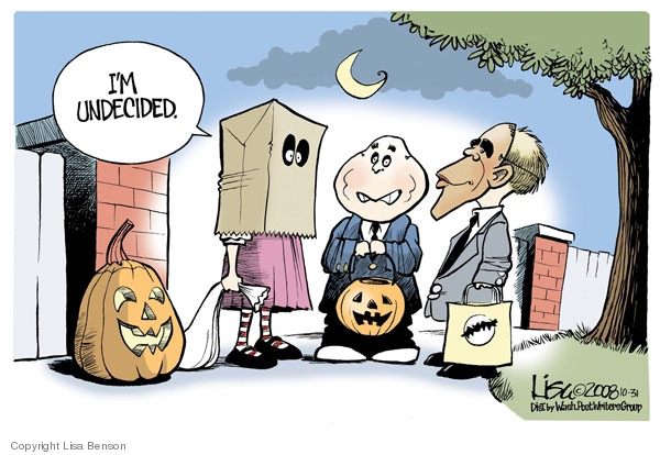 Lisa Benson  Lisa Benson's Editorial Cartoons 2008-10-31 undecided voter