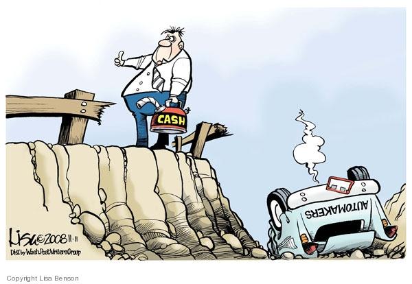 Cartoonist Lisa Benson  Lisa Benson's Editorial Cartoons 2008-11-11 economic crash