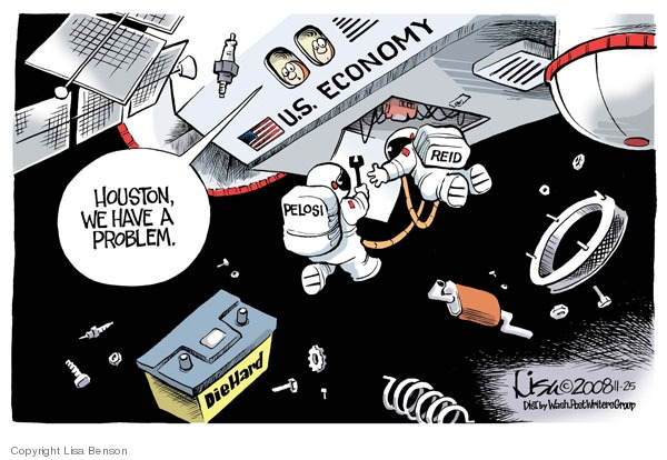 Cartoonist Lisa Benson  Lisa Benson's Editorial Cartoons 2008-11-25 senate majority leader