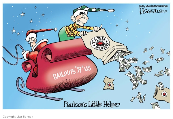Cartoonist Lisa Benson  Lisa Benson's Editorial Cartoons 2008-12-23 recession
