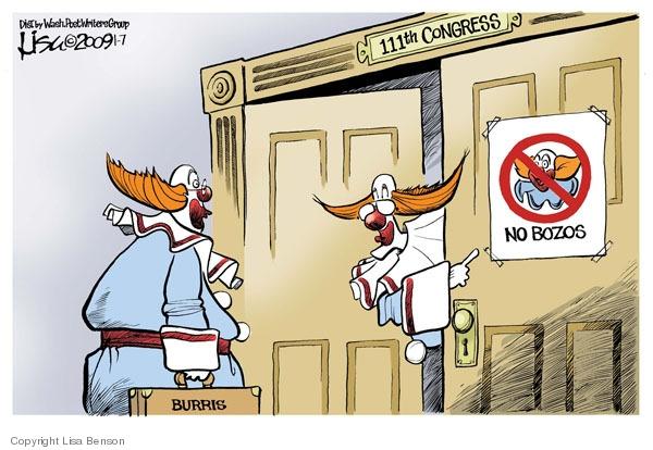 Cartoonist Lisa Benson  Lisa Benson's Editorial Cartoons 2009-01-07 clown