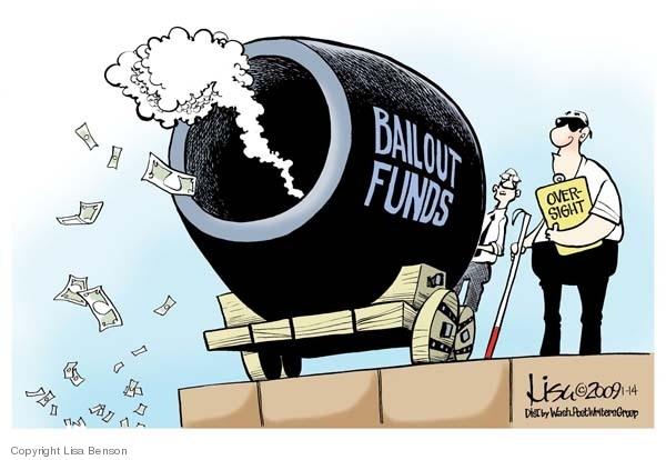Cartoonist Lisa Benson  Lisa Benson's Editorial Cartoons 2009-01-14 oversight