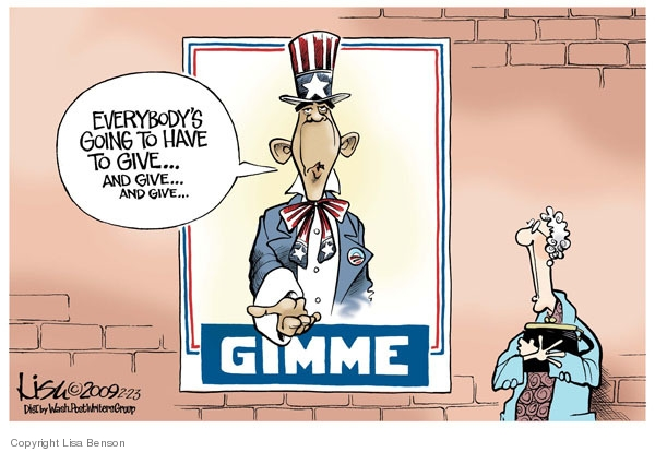 Cartoonist Lisa Benson  Lisa Benson's Editorial Cartoons 2009-02-23 economic downturn