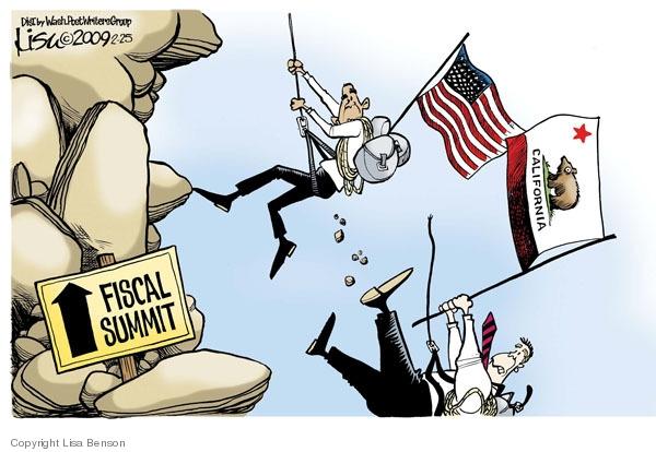 Cartoonist Lisa Benson  Lisa Benson's Editorial Cartoons 2009-02-25 economic downturn
