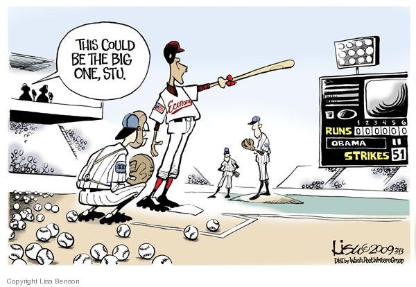 Lisa Benson  Lisa Benson's Editorial Cartoons 2009-03-13 baseball