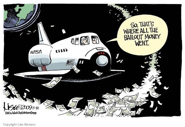 Cartoonist Lisa Benson  Lisa Benson's Editorial Cartoons 2009-03-18 NASA