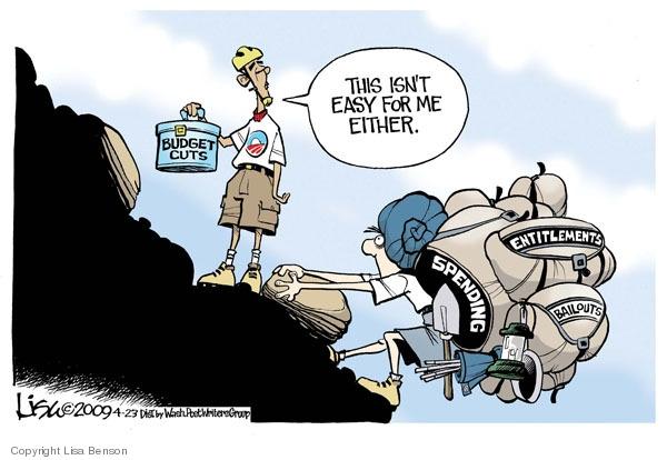 Lisa Benson  Lisa Benson's Editorial Cartoons 2009-04-23 federal budget