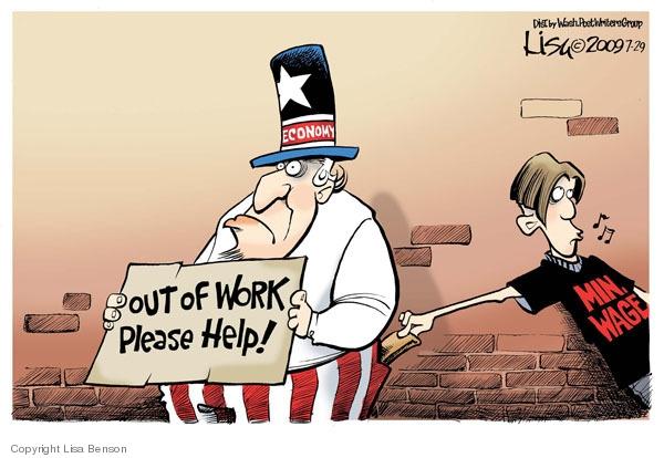 Lisa Benson  Lisa Benson's Editorial Cartoons 2009-07-29 minimum wage