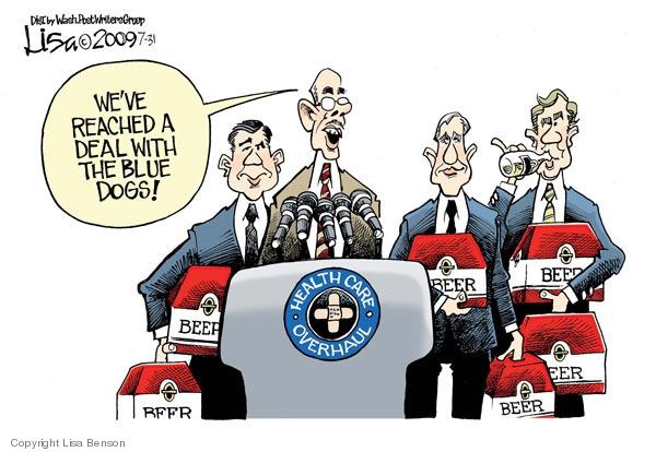 Cartoonist Lisa Benson  Lisa Benson's Editorial Cartoons 2009-07-31 congress health care
