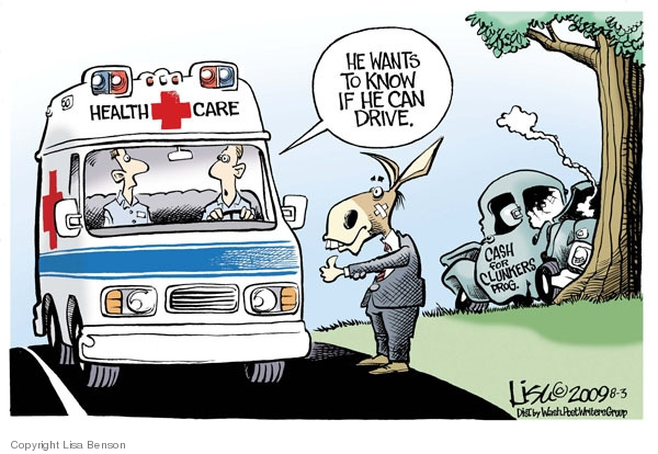 Lisa Benson  Lisa Benson's Editorial Cartoons 2009-08-03 automobile