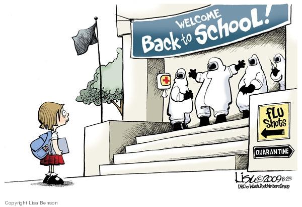 Lisa Benson  Lisa Benson's Editorial Cartoons 2009-08-25 swine flu