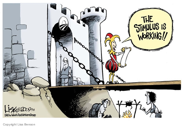 Cartoonist Lisa Benson  Lisa Benson's Editorial Cartoons 2009-09-08 economic downturn
