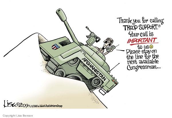Cartoonist Lisa Benson  Lisa Benson's Editorial Cartoons 2009-09-24 military equipment