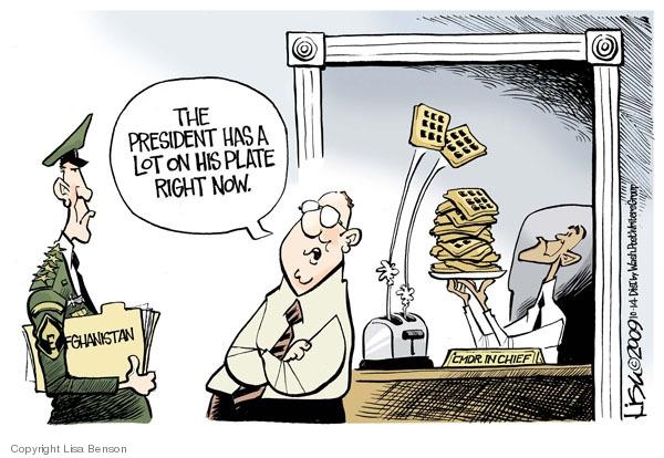 Cartoonist Lisa Benson  Lisa Benson's Editorial Cartoons 2009-10-14 military leadership