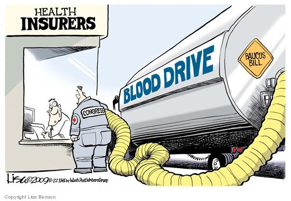 Cartoonist Lisa Benson  Lisa Benson's Editorial Cartoons 2009-10-22 congress health care