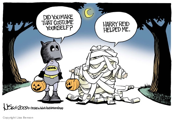 Cartoonist Lisa Benson  Lisa Benson's Editorial Cartoons 2009-10-28 costume