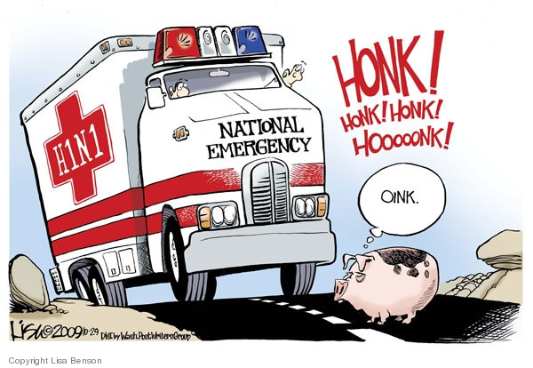Lisa Benson  Lisa Benson's Editorial Cartoons 2009-10-29 swine flu