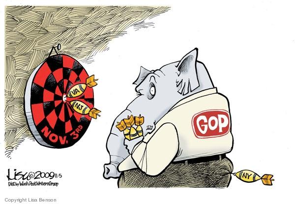 Cartoonist Lisa Benson  Lisa Benson's Editorial Cartoons 2009-11-05 gubernatorial